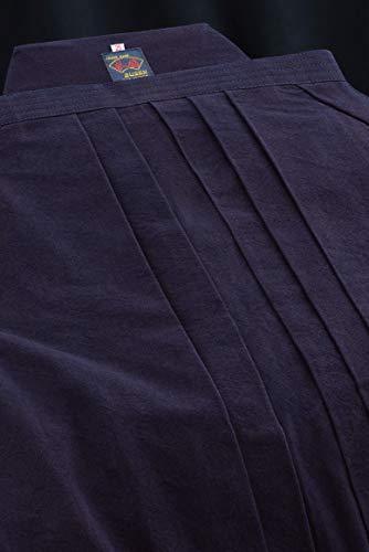 剣道袴 武扇 10000番W 正藍染高級袴 ウォッシュ加工 中ヒダ縫製仕立 22~29号 【希望者には刺繍無料(3文字まで)】 B07QKQ36GR  26号