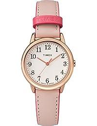 Timex Women 's tw2r62800lector de fácil pequeño rosa/Rose Gold-tone reloj correa de piel