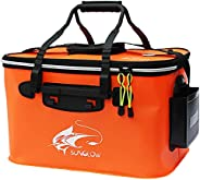 Fishing Bucket, 23L/30L/38L Foldable Fish Bucket,Live Fish Container Multi-Functional Live Fish Bait Bucket,Ou