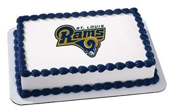 14 Sheet NFL St Louis Rams Football Birthday Edible Image