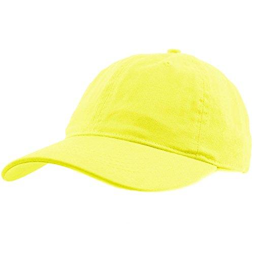 Everyday Unisex Cotton Dad Hat Plain Blank Baseball Adjustable Ball Cap Lemon for $<!--$8.95-->
