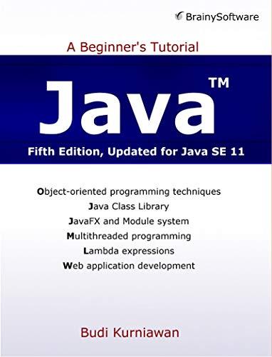 Programming In Java For Beginners Ebook