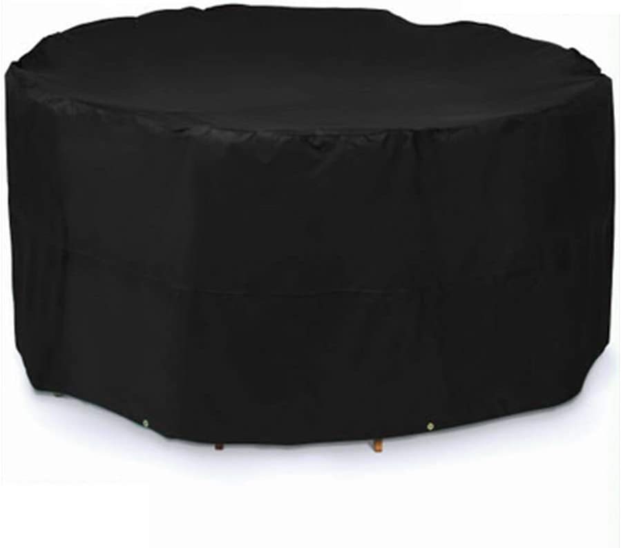 WFF Patio Furniture Covers Outdoor Round Table Cover, Outdoor Table Cover, Heavy Waterproof Outdoor Patio Furniture Cover (90 × 43in)