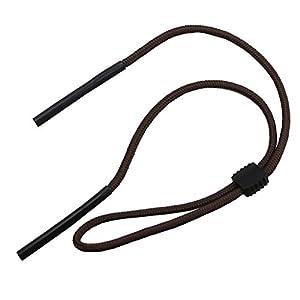 Jili Online Sports Sunglass Holder Strap Reading Glasses Eyeglasses Neck Cord String Eyewear Retainer Strap - Dark Brown