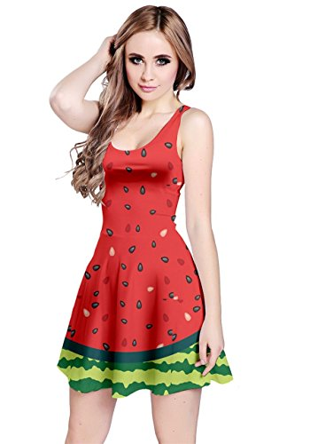 (CowCow Womens Full Watermelon Sleeveless Dress, Full - 3XL)