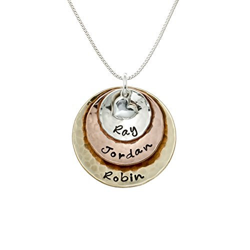 My Three Treasures Personalized Charm Necklace