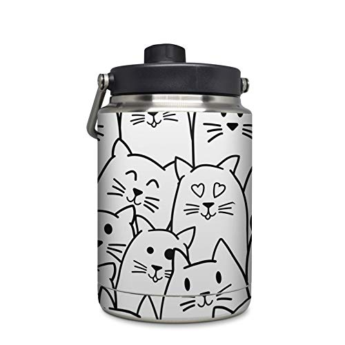 Moody Cats Protector Skin Sticker Compatible with Yeti Rambler 1/2 Gallon Jug - Ultra Thin Protective Vinyl Decal Wrap ()
