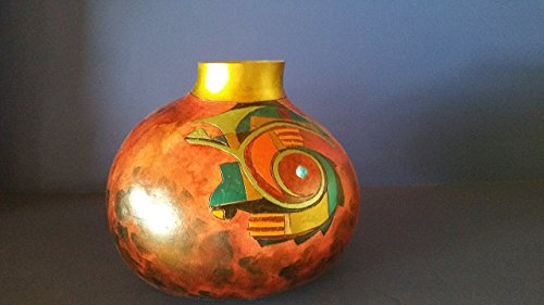 Gourd Pot with Aztec style design