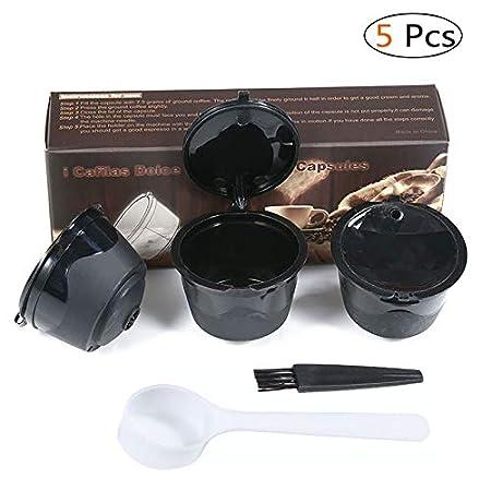 KOBWA 3 Pcs Filtros Cápsulas de Café Puede Rellenables ...