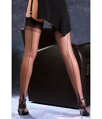 745636ac3 Gio 15 Denier Sheer Nylon Classic Seamed Stockings Size  10.5 ...