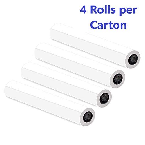 "Alliance CAD Bond Rolls, 36'' x 150', 92-96 Bright (4 Rolls, 2""core, 20lb) by Alliance (Image #1)"
