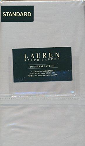 Lauren Ralph Lauren (2) Standard Dunham Pillowcases 100% Cotton - Silver (Light Gray)
