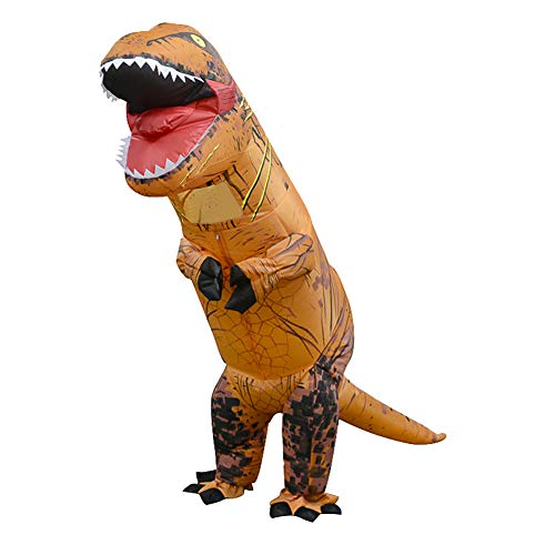 Goodfeng Inflatable Dinosaur Costume T Rex Children Halloween Dress Cosplay Suit for Kids Halloween Chirstmas Party Dress Up,Role Play and Cosplay Gift for Baby Birthday (Brown) -