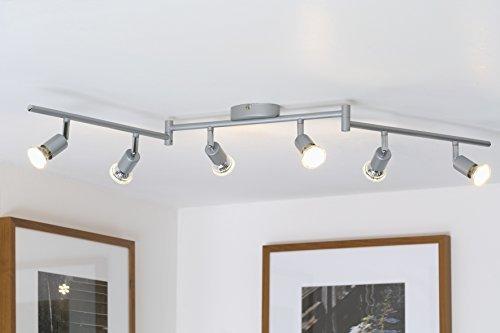 LED Deckenleuchte LED Deckenlampe LED Deckenspot LED Deckenstrahler GU10 Wohnzimmer Schlafzimmer warmweiß schwenkbar