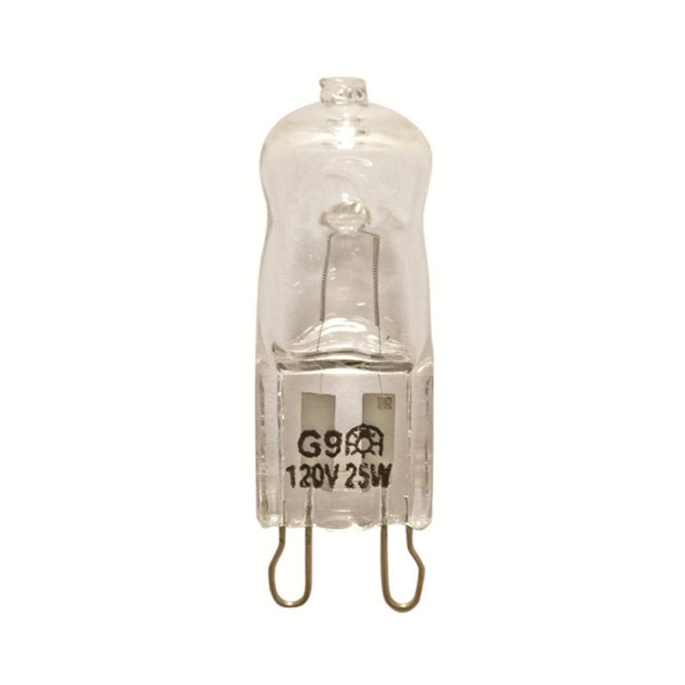 VSTAR G9 25W Clear Halogen Bulb 120-Volt Base G9 Halogen Bulb,10 Pack