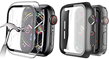 HEYUS [2 Pack] Tempered Glass Screen Case 44mm for Apple Watch Series 6/SE/5/4 , Full Coverage Tempered Glass Screen...