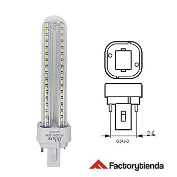 Lámpara Downlight LED G24 9 watios(equivalente a 90 watios), 920Lumen Luz Cálida,LED PLC 2U 9W Bombilla LED Maiz G24 [Clase de eficiencia energética A+]: ...