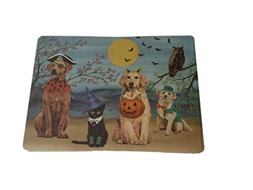 BM Benson Mills Brooklyn Halloween Pets in Costumes Set of 4 Placemats 13