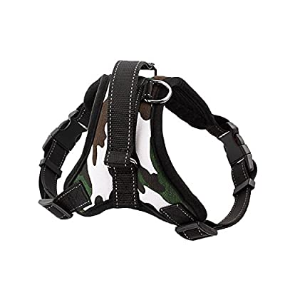 Reflective Dog Leash Harness, IDEAPRO Adjustable No-Pull Dog Leash Collar Harness With Handle on Top for Walking, Training--Best for Medium Small Dogs