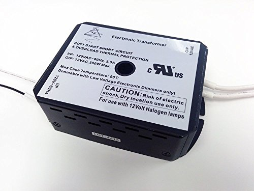 Halogen Lighting Transformer 12V AC 300W Replacement for MDL Corp 316-0059