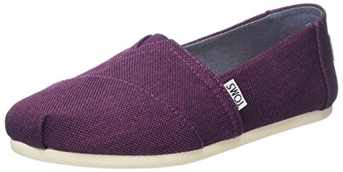 TOMS Women's Alpargata Flat (7.5 B(M) US, Black Cherry Poly Canvas)