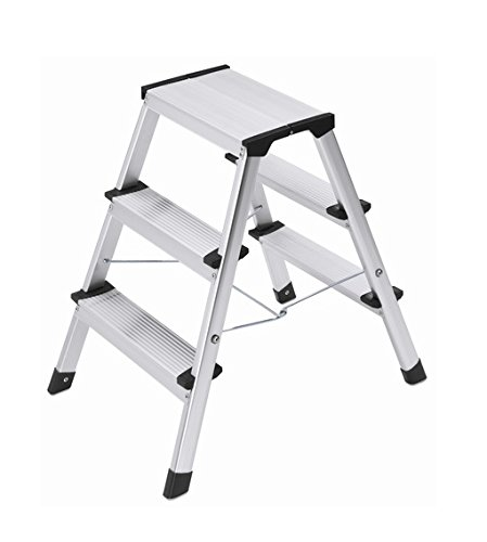 3 opinioni per Hailo L90 STEP-KE Sgabello in alluminio, 2 x 3 gradini