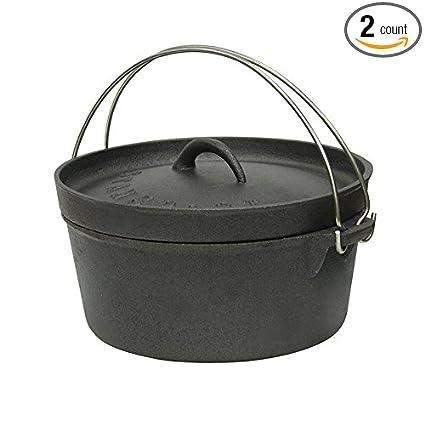 Amazon.com: Horno holandés de hierro fundido – 4 qt – sin ...