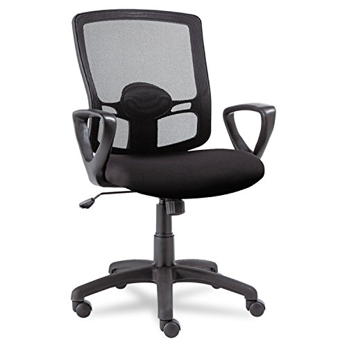 Alera Etros Series Mesh Mid-Back Swivel/Tilt Chair, Black by Alera