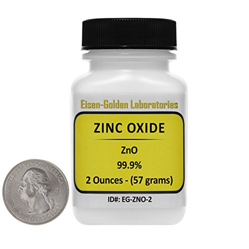 - Zinc Oxide [ZnO] 99.9% ACS Grade Powder 2 Oz in a Mini Space-Saver Bottle USA