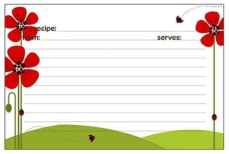 Meadowsweet Kitchens Recipe Card Set   Ladybug