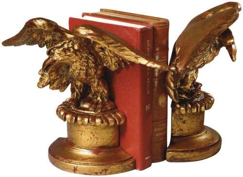 EuroLuxHome Bookends Bookend Traditional Patriotic American Eagle Birds Resin New Han