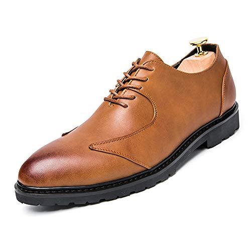Xujw-shoes, 2018 Scarpe Stringate Basse Scarpe formali Oxford da uomo in stile British Business con punta morbida e bassa traspirante (Color : Nero, Dimensione : 39 EU) Marrone