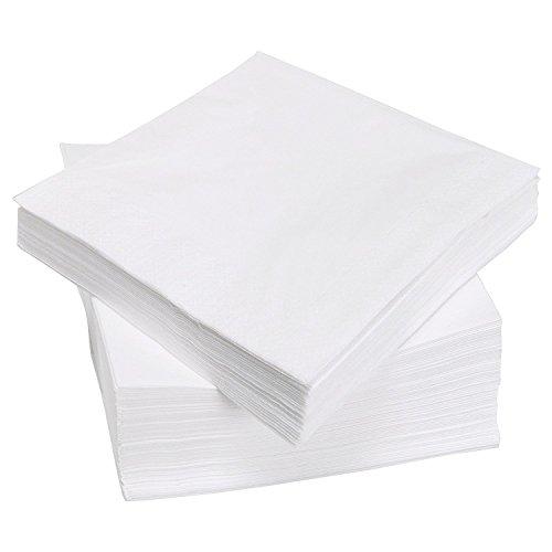 (White Beverage Paper Napkins, 1 Ply Cocktail Napkins, 500/bag)