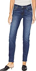 KUT from the Kloth Size Guide  Pull on the KUT from the Kloth™ Diana Skinny for a stylish look and comfy feel. It's the best of both worlds! Skinny jeans feature a mid rise and slightly relaxed fit. Engaged is a dark blue wash on stret...