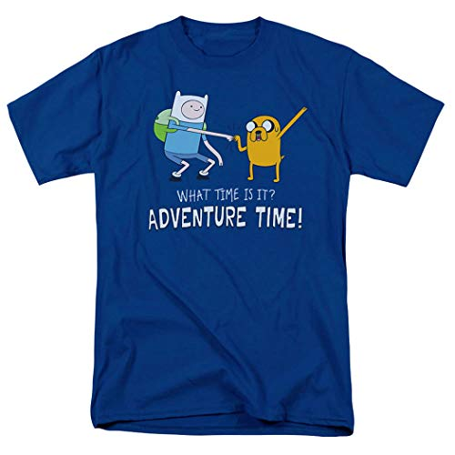 Adventure Time What Time is It Cartoon Network T Shirt & Stickers (Small) Royal Blue
