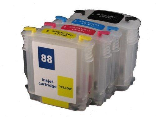1 X Refillable ink cartridge 88 88XL for HP officejet pro K550DTWN L7500 L7400 K8600 L7580 L7590 L7550 L7750 L7780 K550 PRINTER - Empty Color Inkjet