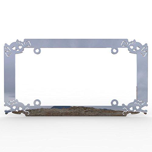 girly skull license plate frame - 6