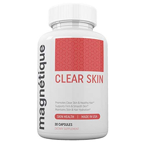 Magnetique Clear Skin - Promotes Clear Skin & Healthy Nourished Hair - Longer, Stronger Hair (Growth Vitamins Fast Hair)