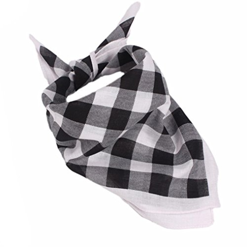Iuhan Fashion Women Men Plaid Bandanas Head Wrap Turban Hair accessories Headband - Plaid Accessories