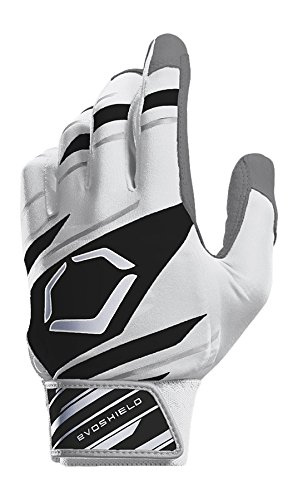 EvoShield Protective Speed Stripe Batting Gloves, White/Black/Grey, X-Large (Best Batting Gloves On The Market)