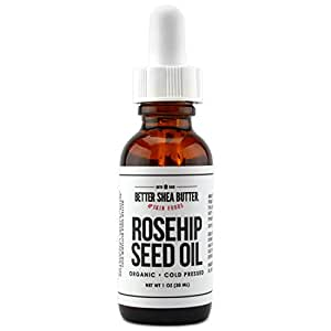 USDA Certified Organic Rosehip Seed Oil- Premium Quality, Authentic and Fresh - Fades Dark Spots, Evens Out Wrinkles - Non-Greasy and Fast-Absorbing Oil - 1 fl oz