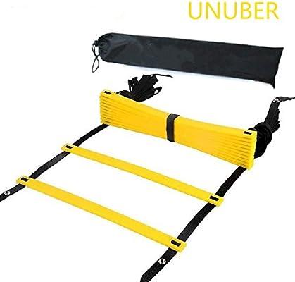 Escalera de entrenamiento de velocidad rápida pies agilidad ejercicios ayuda, velocidad ajustable escalera de agilidad, fútbol entrenamiento de velocidad, unisex, amarillo: Amazon.es: Deportes y aire libre