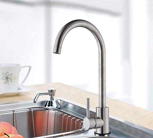 Decorry 304 Stainless Steel Faucet Kitchen Faucet Hot and Cold Kitchen Faucet Sink Caipen Single Paragraph redary Drawing Faucet