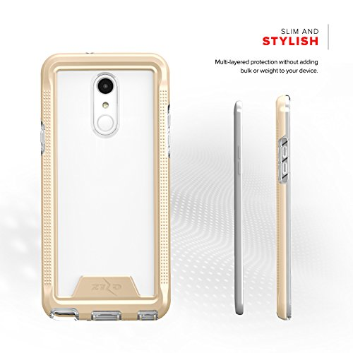 Zizo ION Series compatible with LG Stylo 4 Case Military Grade Drop Tested with Tempered Glass Screen Protector GOLD CLEAR by Zizo (Image #6)