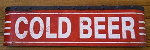 Large COLD BEER Metal Sign - Cold Beer Sign
