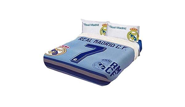 Cristiano Ronaldo CR7 Real Madrid C.F. Original con licencia Fuzzy manta de forro polar 1 pieza Tamaño completo: Amazon.es: Hogar