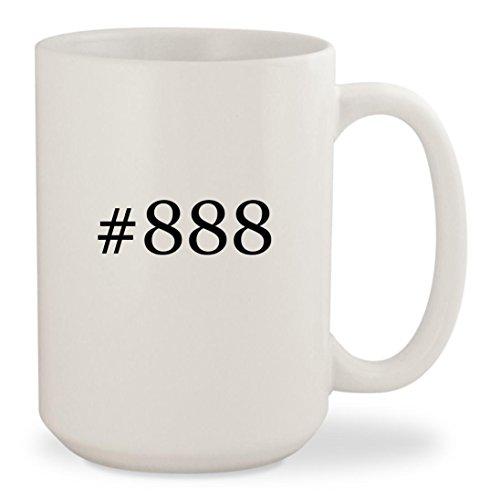 #888 - White Hashtag 15oz Ceramic Coffee Mug Cup
