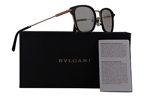 Bvlgari BV1095 Eyeglasses 53-19-145 Matte Pink Gold Matte Black w/Demo Clear Lens 2013 BV 1095 - Eyewear Bulgari