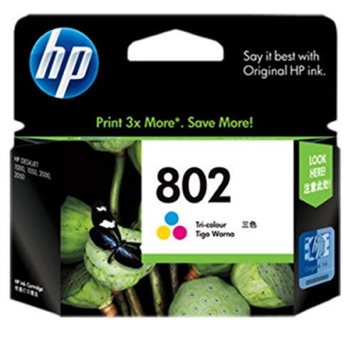HP 802 Color Ink Cartridge CH564ZZHP 802 L