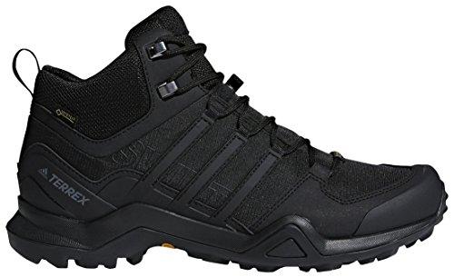 adidas outdoor Terrex Swift R2 Mid GTX Mens Hiking Boots, Black/Black/Black, 11